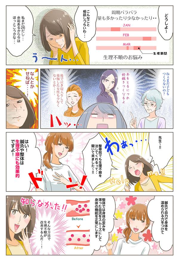 尼崎・西宮不妊鍼灸・整体kukuna生理不順漫画